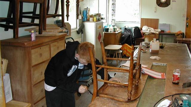 varnishing chair #1