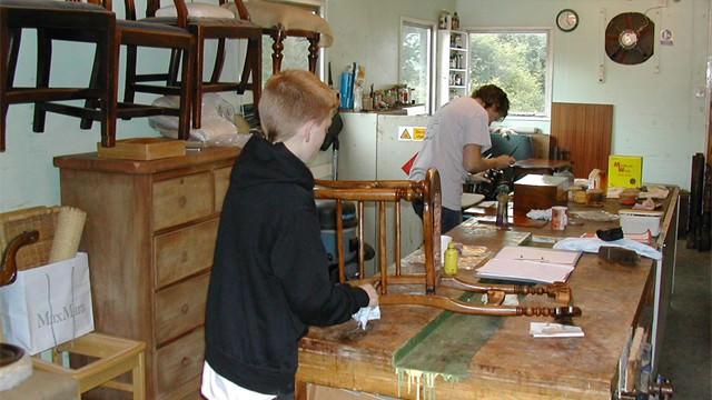 varnishing chair #4