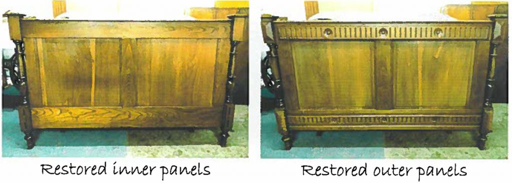 restored footboard